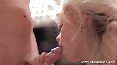 Elegant Blowjob Blonde Deep Cumshot