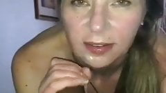 Swinger wife sucking black cock