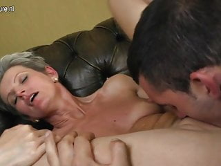 Amateur mother fucks her young lover