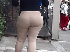 THICK LATINA SLUT TAN SPANDEX VTL