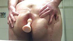 Fat sissy plug and gape