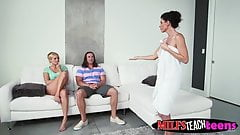 Tarzan slams milf India and teen Kate