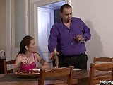Pizza guy fucks married girl from behind