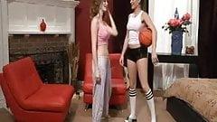 Lesbian brunette hard teen sex