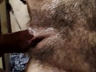 Hairy Wife - Massive Squirt While Being Fucked