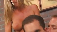 She gets hot watching guys suck on dick