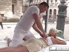 Candee Licious gets a free massage