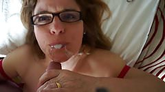 Wife eating my cum