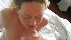 Cute amateur girlfriend facial