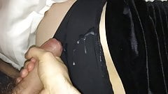 Jizz on her silky smooth panties
