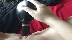 Teen Masturbating with Hairbrush