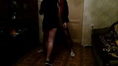 Homemade Russian Ballbusting