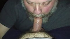 Big bear suckin my dick