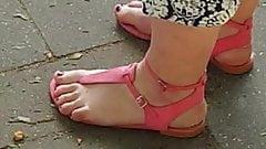 Nice purple teen feet