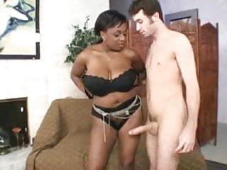 Beautiful black girl suck white dick