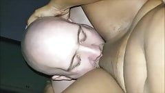 White guy eating married Haitian MILF pussy
