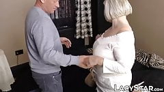 Debaucherous GILF checked out before big dick banging