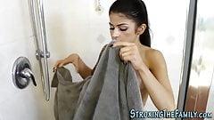 Showering stepteen banged