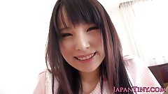 Petite japanese toyed before facial cumshot
