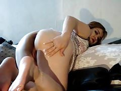 Anal creampie on wife