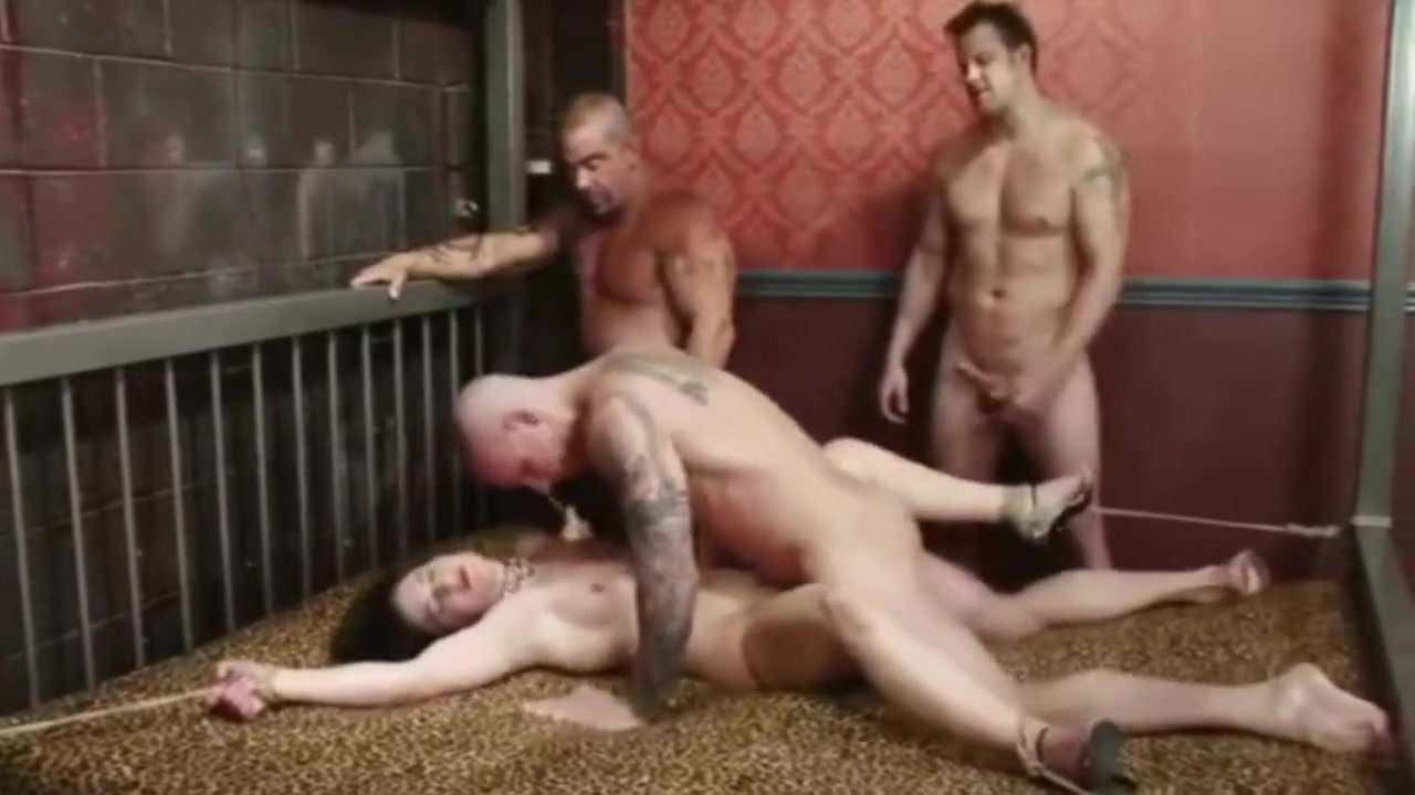 White Woman Ten White Men Hard Bound Crying Gangbang.