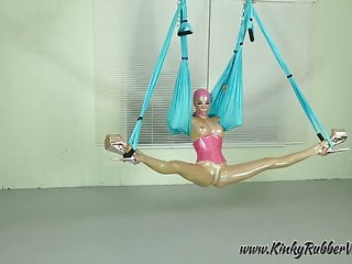 Latex Lara on the Yoga Swing