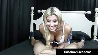 Asian Latina Cristi Ann Gives Step Brother His 1st Blow Job!