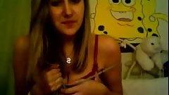 Girl caught on webcam
