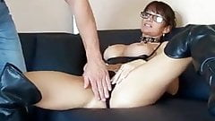 Milf leather anal