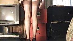 Secretary stockings upskirt