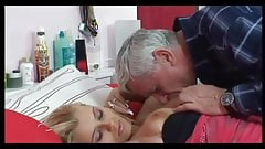 Old man and blonde
