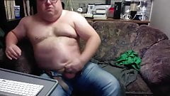 Daddy strokes on cam