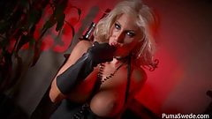 Devilish Blonde Puma Swede Fingers Her Pussy!'s Thumb