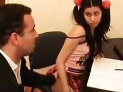 STP3 Nervous Pretty Schoolgirl Gets Lured By Pervy Tutor !