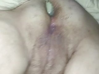 MILF Slut Cums Then Gets Anal Creampie Twice By Black Bull
