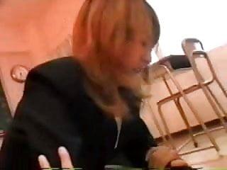 Hot and horny japanese teacher on top