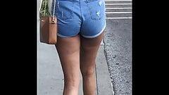 Pretty Thick Latina N Jean Shorts