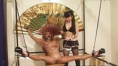 Elegant Japanese mistress punishes her slavegirl