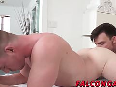 Fit hunks with massage passion get naughty and start fucking