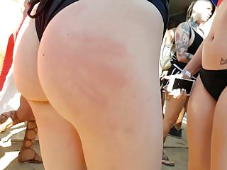 Candid nice jiggly ass slut in one piece!!!