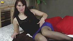 Hot steamy mature mom playing with her sensual body