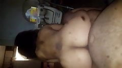 Big booty bitch riding dick