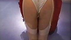 Retro Cocktail Dress With White Stockings