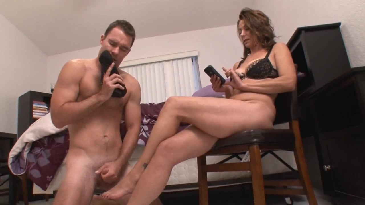 Shoe Sniffing Stepson Become Slave Mom Femdom Cum On-3860