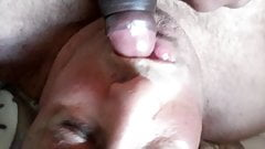 Married daddy sucks the cum and deep blow the  uncut BBC