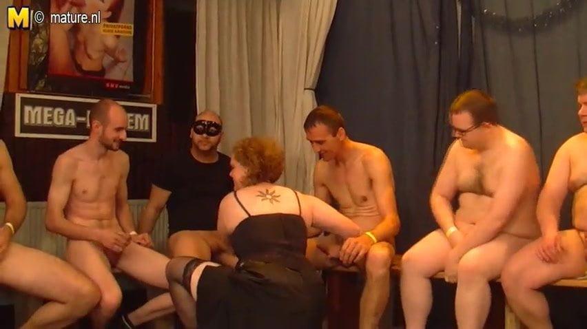 Kinky german gangbanged