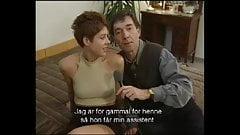 Pelirroja alemana de pelo cort