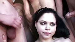 Messy girls in a cum compilation with music
