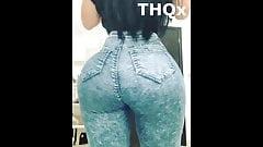 Mulher gostosa com bunda muito grande em jeans