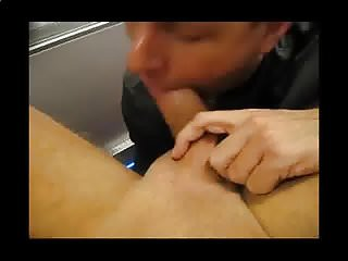 Daddy Sucks Straight Younger Guy's Cock and Swallows Cum
